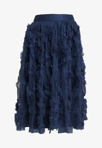 Lace & Beads - RUFFLE MIDI SKIRT - A-linjekjol - dark blue - 4