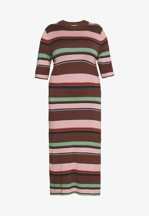 STRIPED MIDI DRESS - Vestito estivo - multi