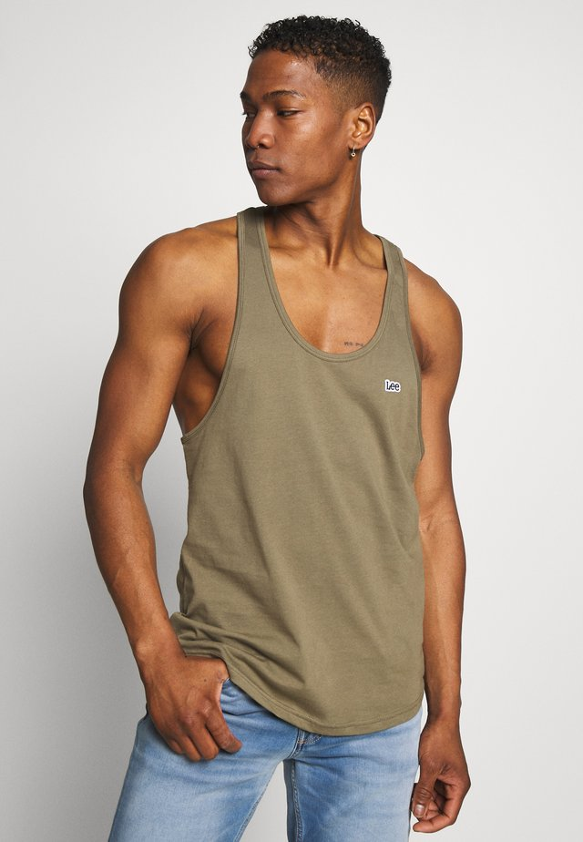 LOOSE TANK - Top - utility green