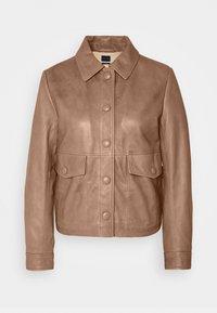 Sisley - Leather jacket - brown - 4