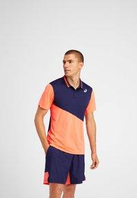 ASICS - Polo shirt - peacoat/flash coral - 0
