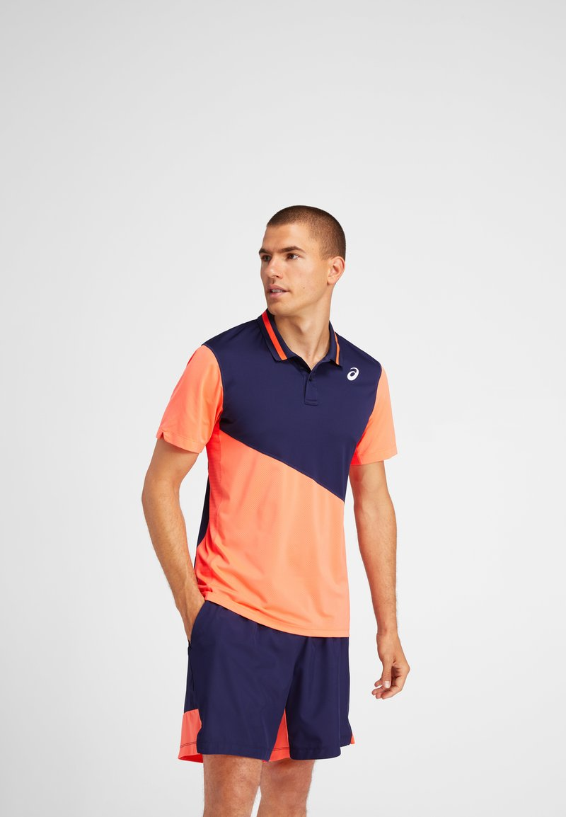 ASICS - Polo shirt - peacoat/flash coral