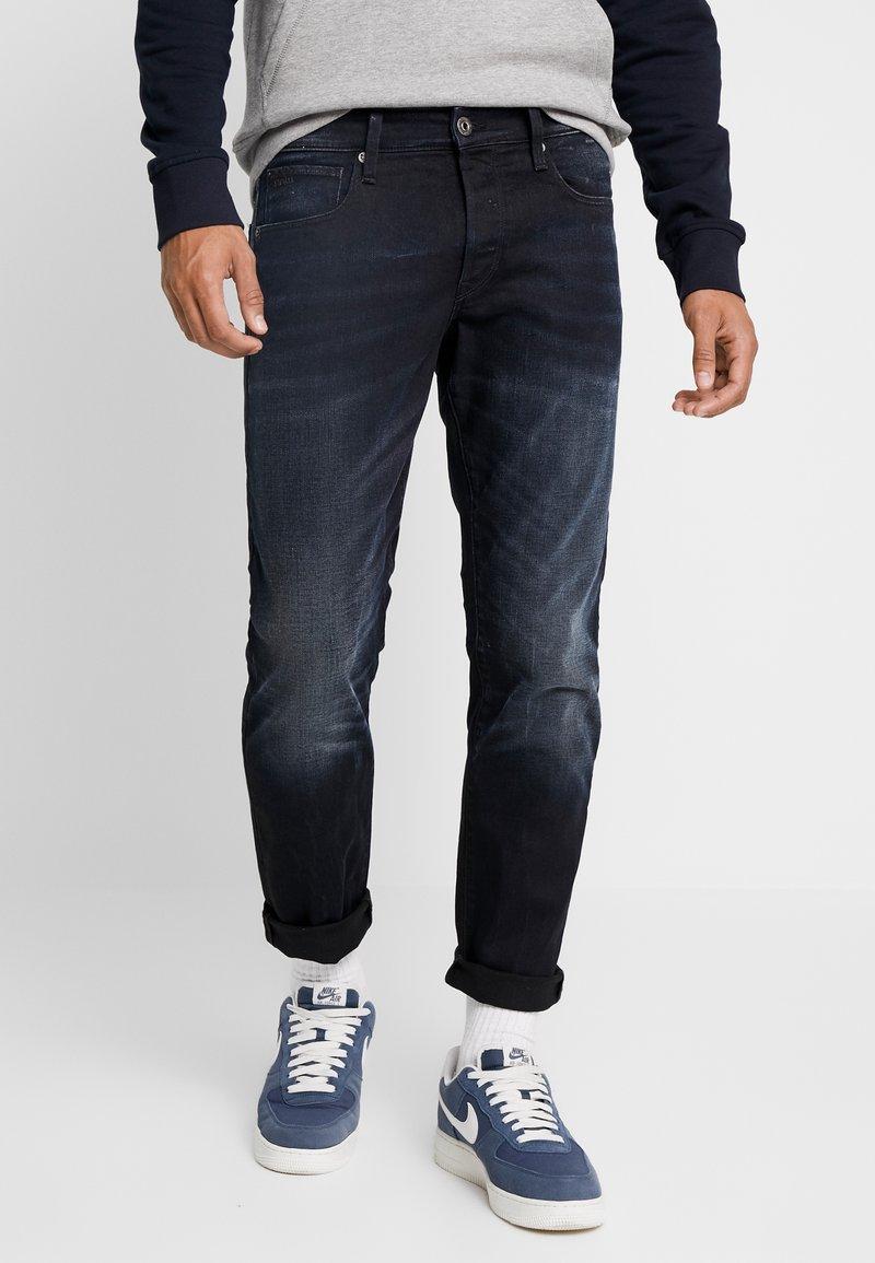 G-Star - 3301 STRAIGHT TAPERED - Jeans a sigaretta - siro black stretch denim aged