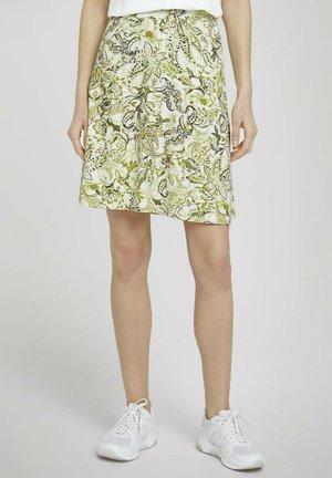 MIT TASCHEN - A-line skirt - green paisley design