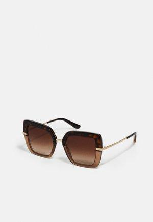 Sunglasses - mottled brown/gold-coloured