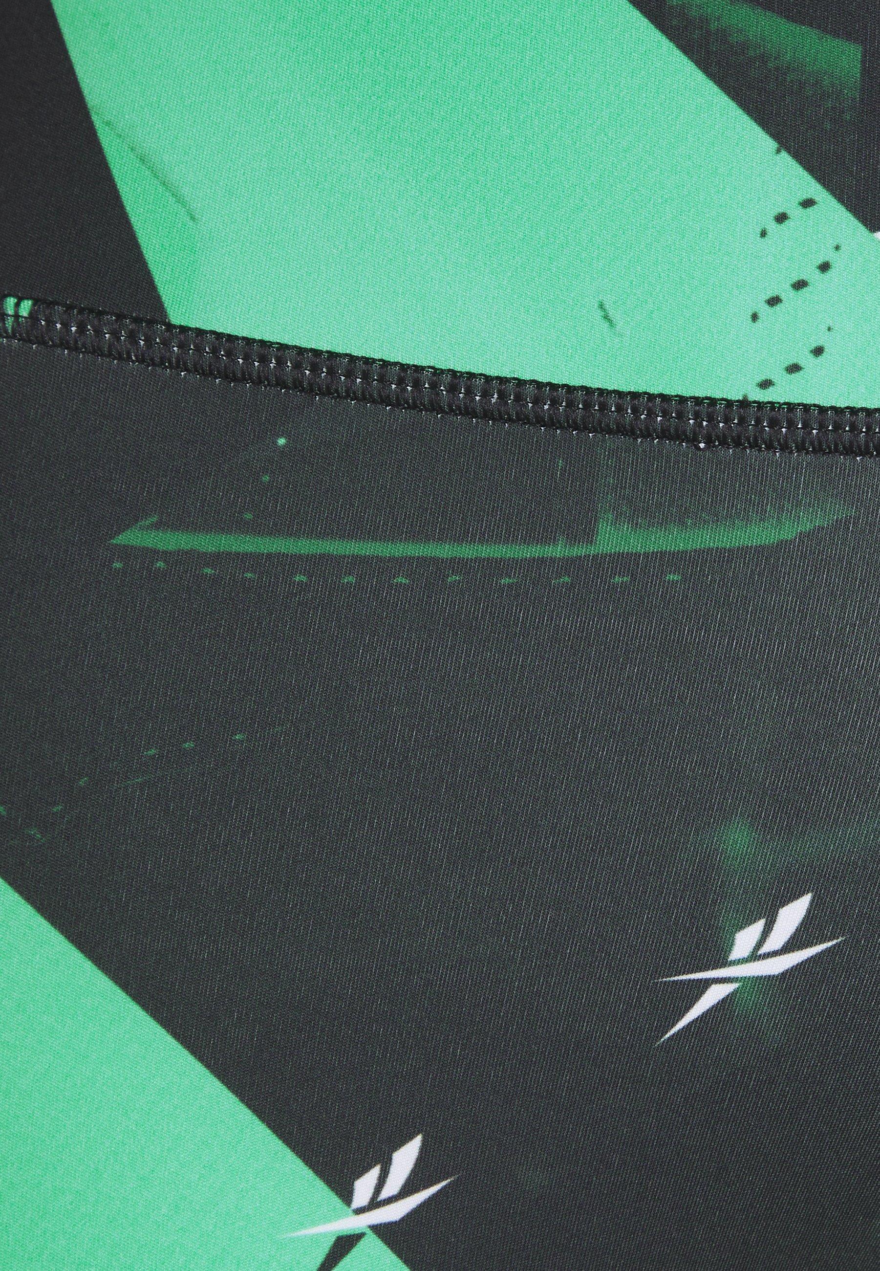 Reebok WORKOUT READY PRINTED LEGGINGS - Leggings - green v35Cv