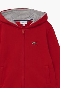 Lacoste Sport - TENNIS - Zip-up hoodie - red/silver chine - 2