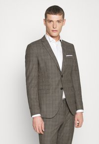 Selected Homme - SLHSLIM CHECK SUIT SET - Completo - sand - 2