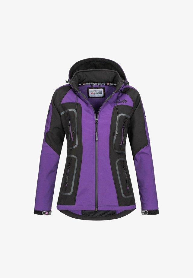 Soft shell jacket - lila