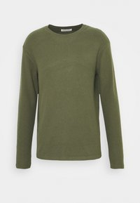 Pier One - RIBBED LOUNGE TOP - Pyžamový top - khaki - 4