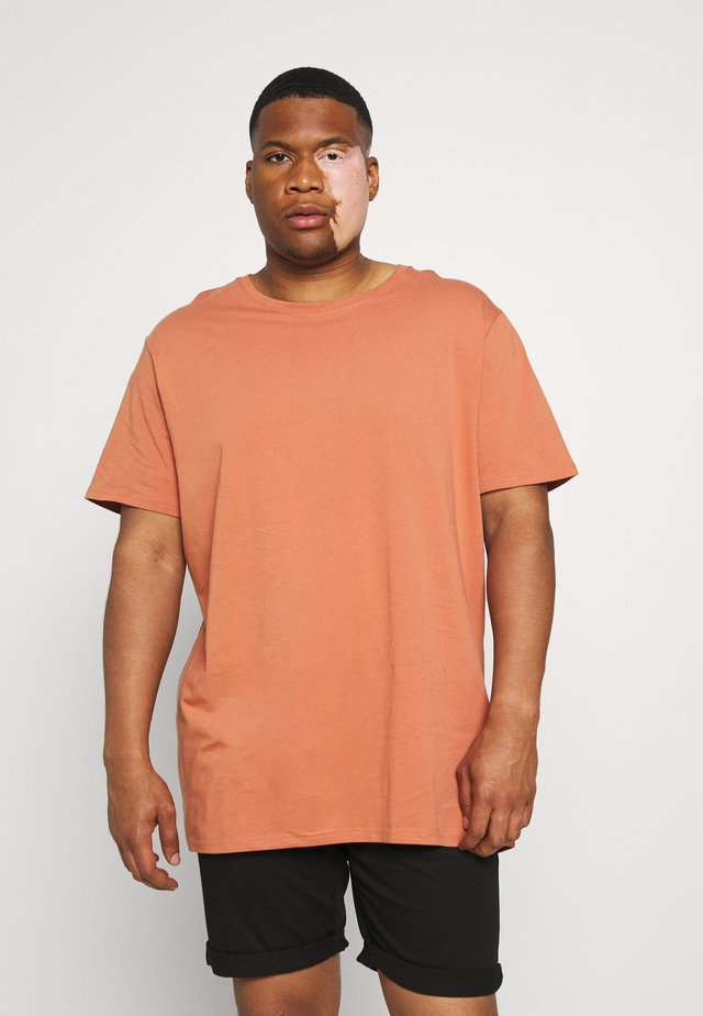 ESSENTIAL LONGLINE SCOOP TEE - T-shirt basic - terracotta