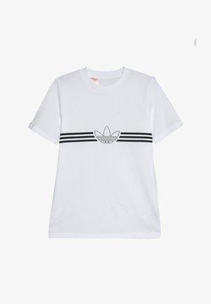 OUTLINE TEE - Print T-shirt - white/black
