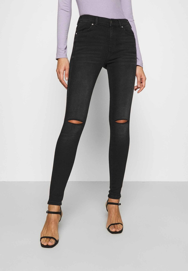 Dr.Denim - LEXY - Jeans Skinny Fit - black mist ripped