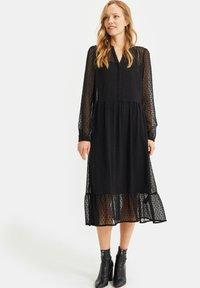 WE Fashion - MET DESSIN - Cocktail dress / Party dress - black - 0