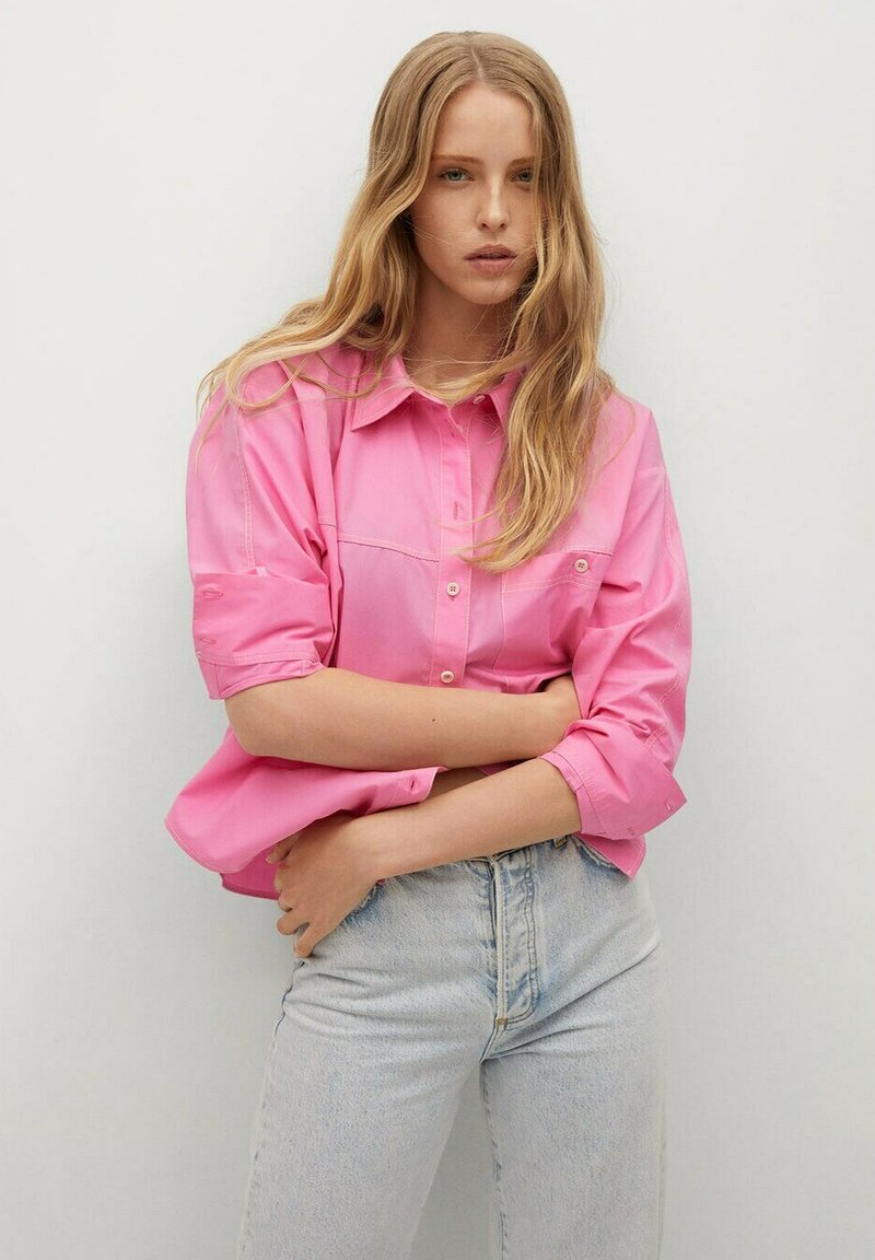 Mango - Button-down blouse - rose