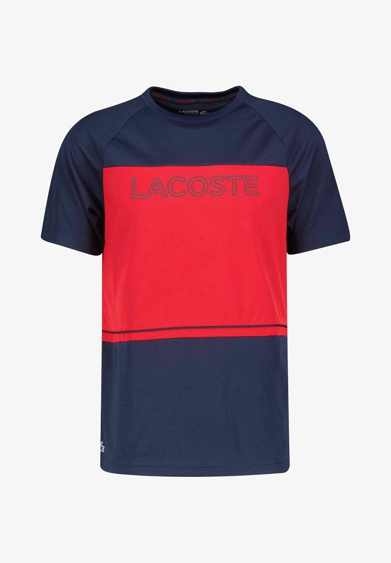 Lacoste Sport - Print T-shirt - marine/rot