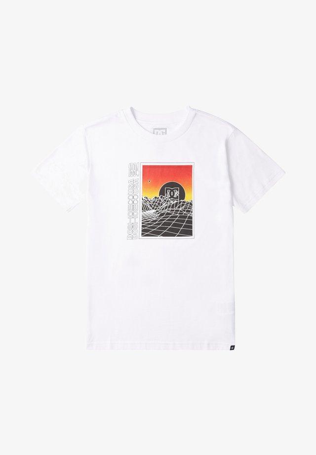 GRIDLOCK - T-shirt imprimé - white