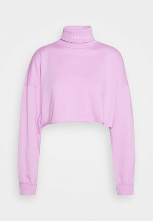 EMBROIDERED NECK - Jumper - purple