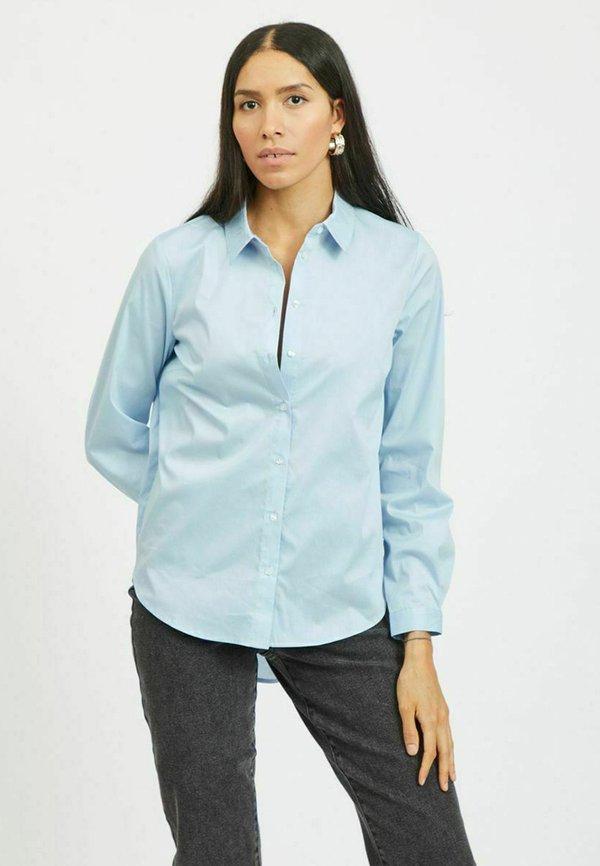 Vila HIGH-LOW - Koszula - cashmere blue/jasnoniebieski BCOB