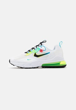 AIR MAX 270 REACT - Sneakers basse - white/black/blue fury/volt/flash crimson