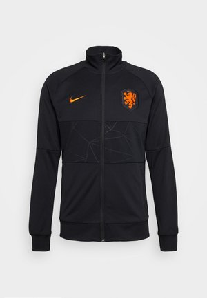 NIEDERLANDE KNVB - National team wear - black/black/black/safety orange