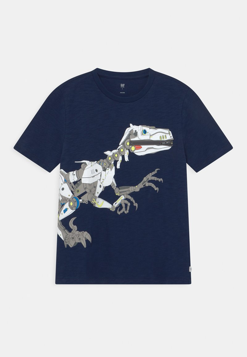 GAP - BOY TEE ZIPPER - T-shirt con stampa - elysian blue
