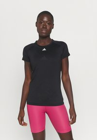 adidas Performance - PERFORMANCE TEE - Sports shirt - black - 0