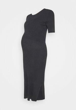 AMAYA 2-IN-1 - Vestido de punto - black