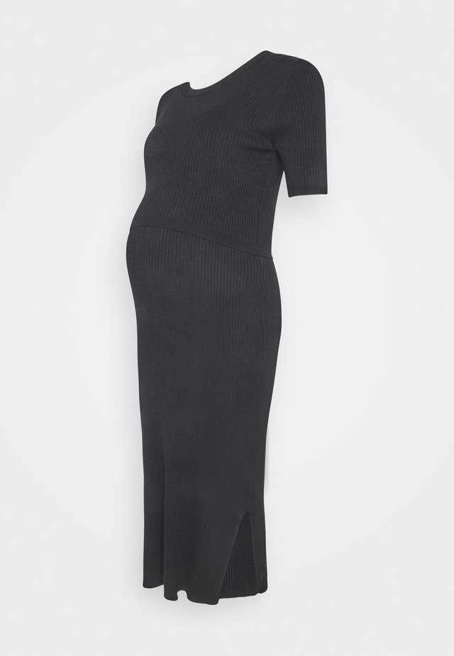 AMAYA 2-IN-1 - Robe pull - black