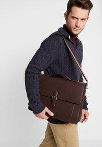 Pier One - Briefcase - dark brown - 1