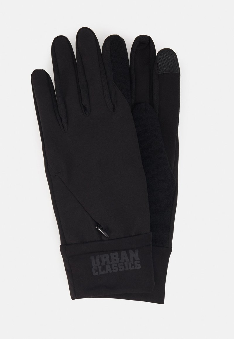 Urban Classics - PERFORMANCE GLOVES LOGO CUFF - Gloves - black