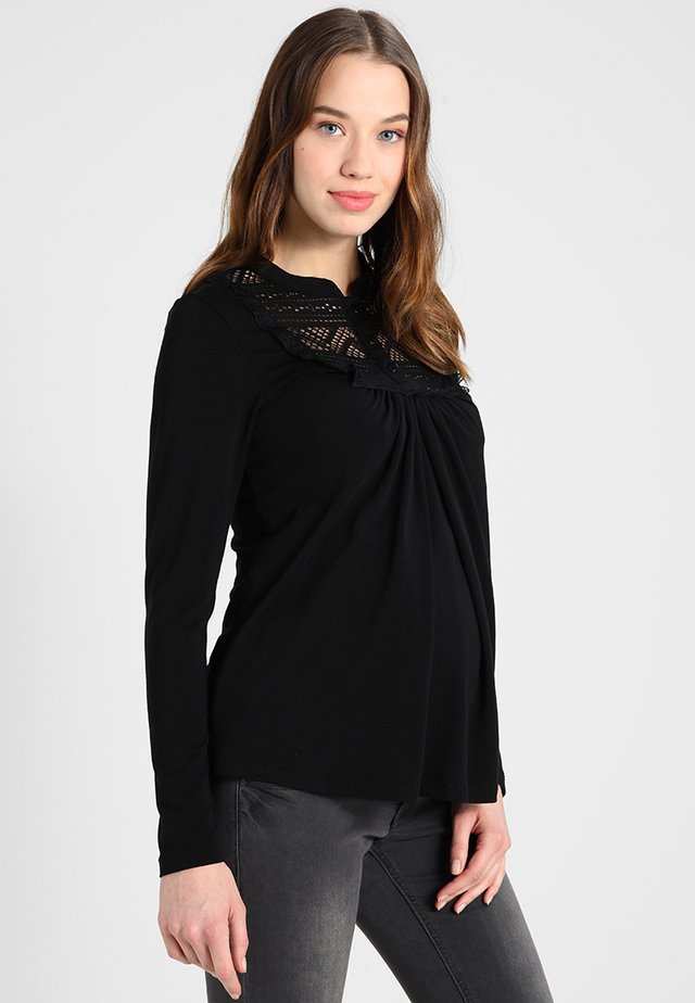 NURSING ORGANIC - Long sleeved top - black