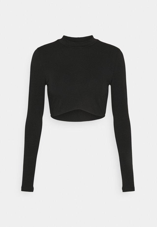 LONG SLEEVE CROP - Long sleeved top - black