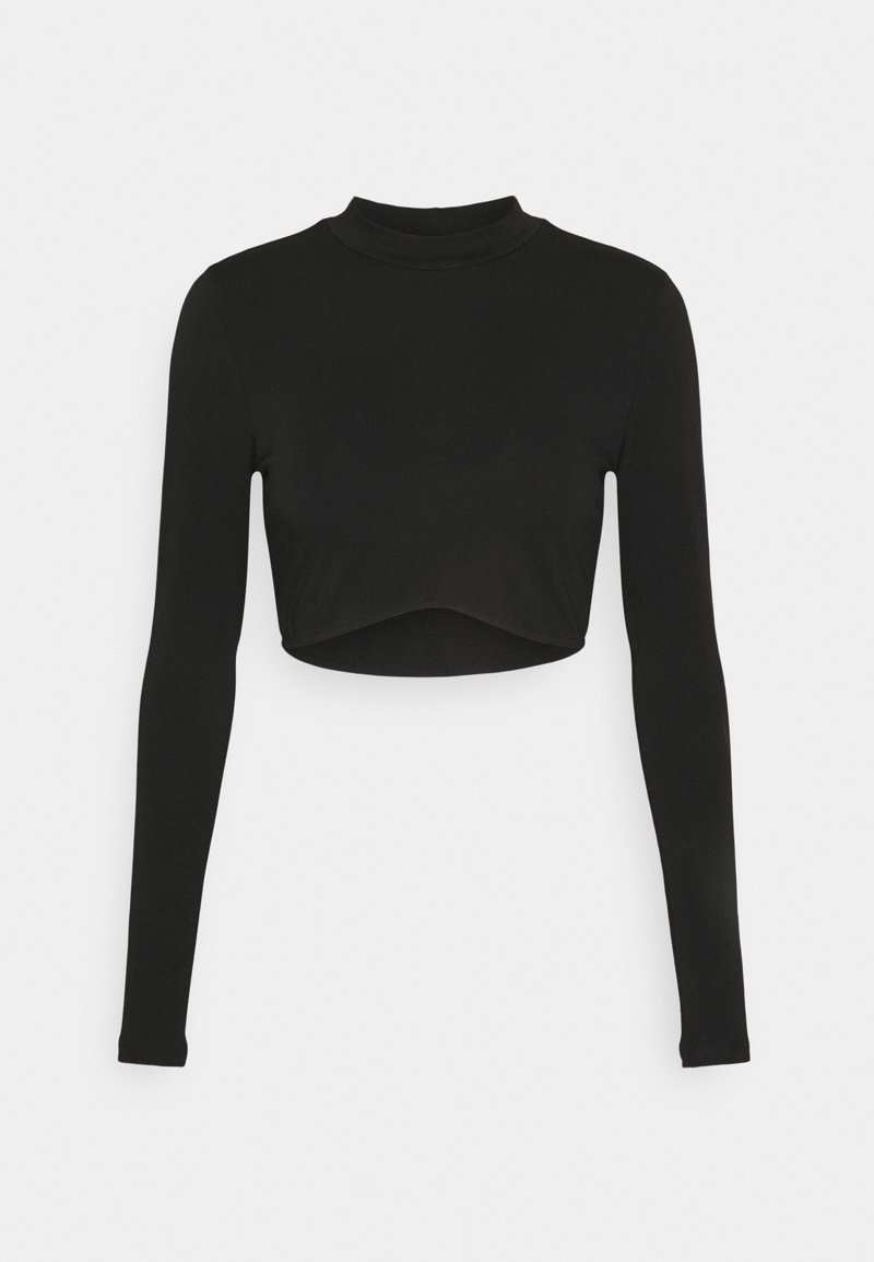 Nly by Nelly - LONG SLEEVE CROP - Camiseta de manga larga - black