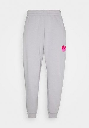 Tracksuit bottoms - light grey/  pink