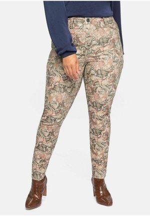 WENDEHOSE - Trousers - beigefarben bedruckt
