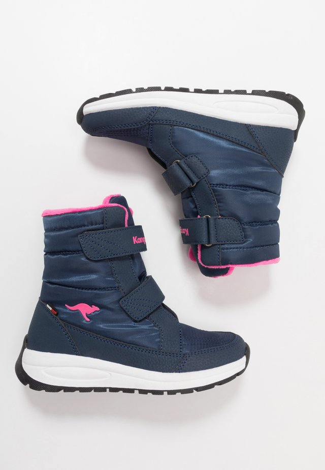 K-FLOSSY RTX - Winter boots - dark navy/daisy pink