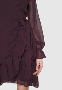 Gina Tricot - JULIANNA WRAP DRESS - Cocktail dress / Party dress - winetasting - 5