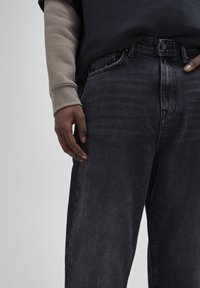 PULL&BEAR - Straight leg -farkut - mottled dark grey - 3