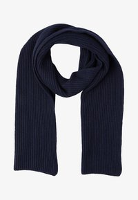 Johnstons of Elgin - RIBBED CASHMERE SCARF - Schal - navy - 1
