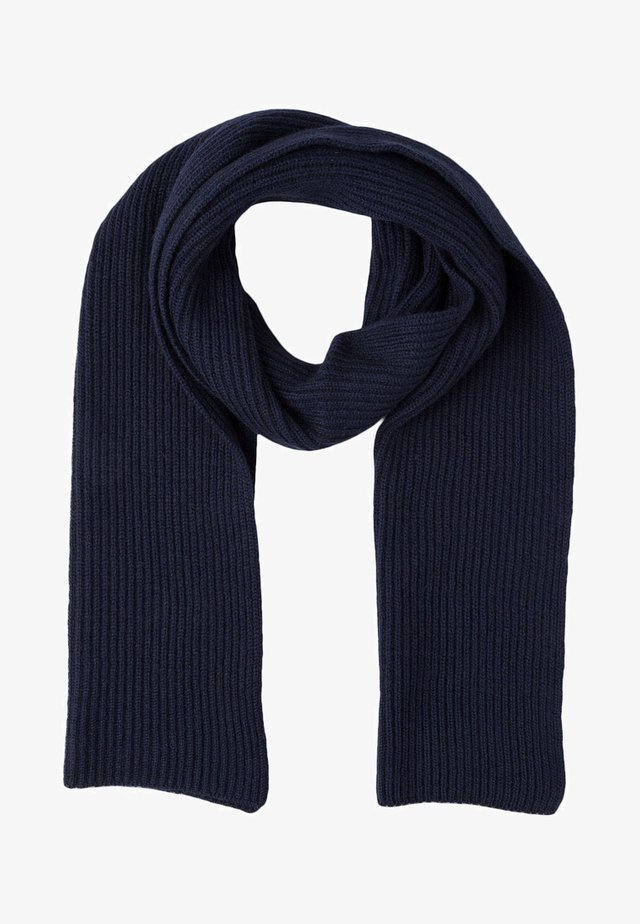 RIBBED CASHMERE SCARF - Schal - navy