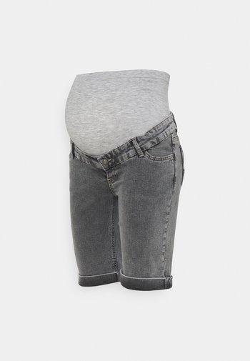 MLTOWN SLIM BERMUDA - Denim shorts - light grey denim/wash