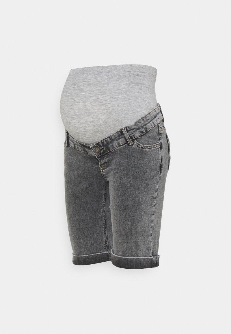 MAMALICIOUS - MLTOWN SLIM BERMUDA - Denim shorts - light grey denim/wash
