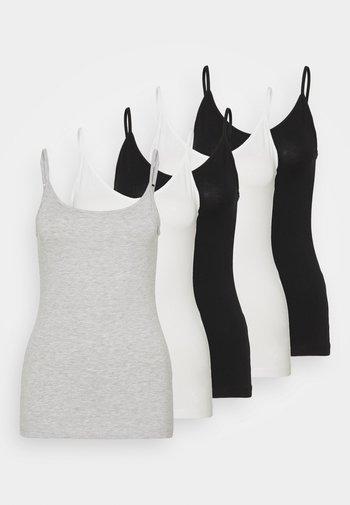 5 PACK - Top - black/white/mottled light grey