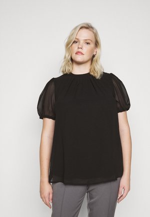 BILLIE PUFF SHORT SLEEVE SHELL - Bluser - black