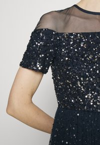 Maya Deluxe - ALL OVER EMBELLISHED MAXI DRESS WITH MINI LINING - Occasion wear - navy - 3