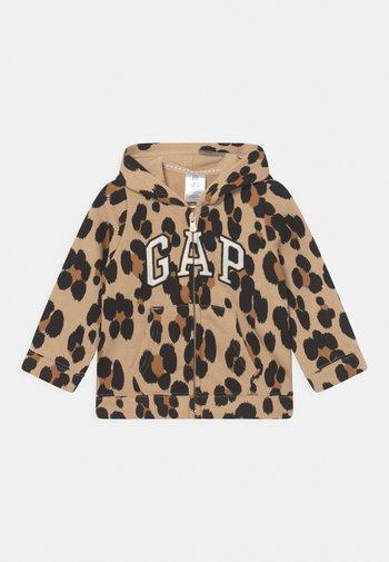 LOGO - Zip-up sweatshirt - beige