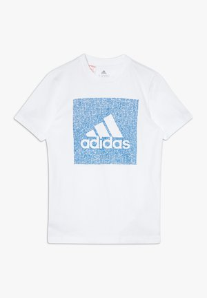 BOS BOX - Print T-shirt - white/blue