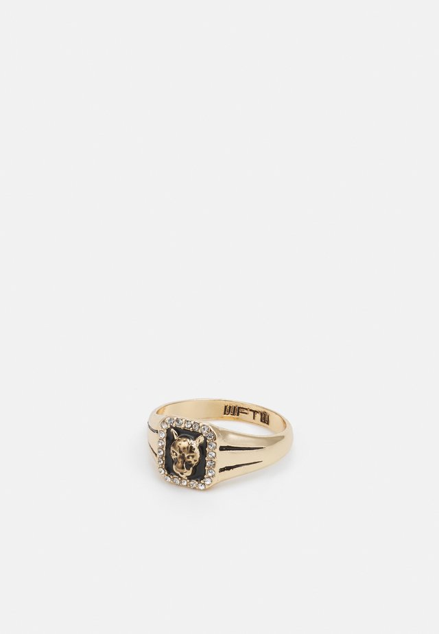 WELCOME TO THE JUNGLE RECTANGLE LEOPARD - Ring - gold-coloured