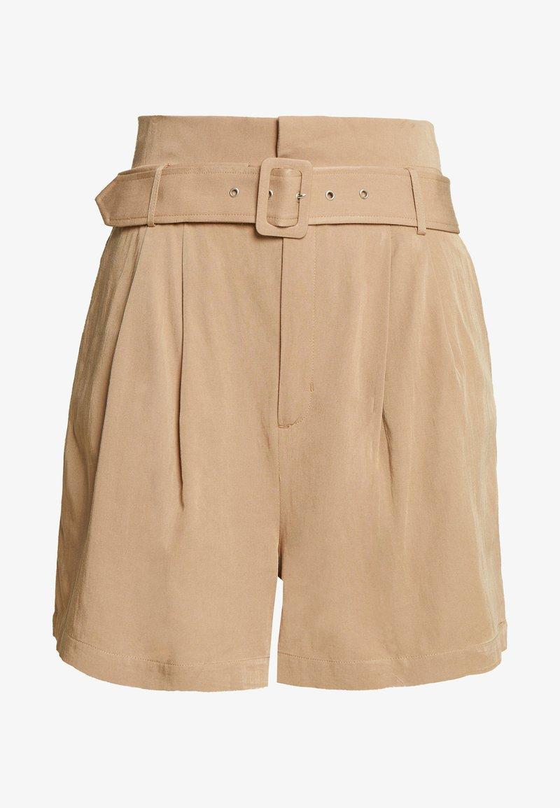 Glamorous Curve - BELTED - Shorts - stone
